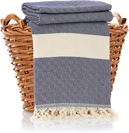 f959a8ec75 100% Cotton Throw Blanket - Ultra Premium Natural Soft Hypoallergenic  Luxury Large Sized Blanket for