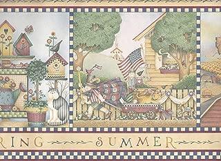 Debbie Mumm Wallpaper Wall Border - Seasons