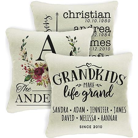 grandkids names grandma birthday gift Personalized family names pillow custom pillow for grandma