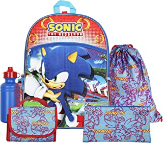 "FAB Starpoint Sega Sonic Blue 16"" Backpack Back to School Essentials Set"