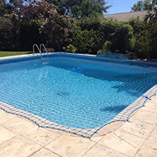 WaterWarden Inground Pool Net, 15' x 30', Blue – DIY System, for Kid Safety, Made of Durable UV Protected Polyethylene Mat...