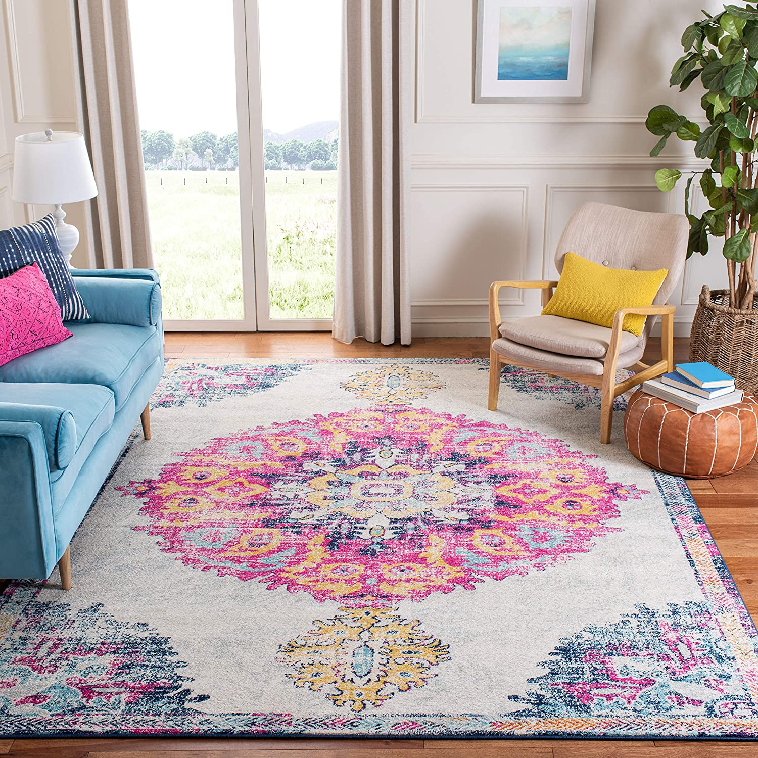 Safavieh Limited price sale Madison Collection OFFicial shop MAD913A Distressed Medallion Non-She