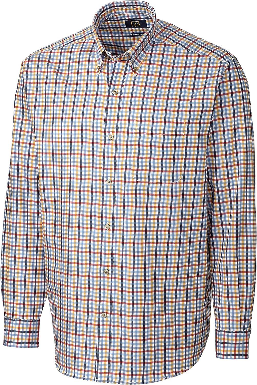 Cutter & Buck Men's Big-Tall Long Sleeve Spring Hill Plaid Shirt