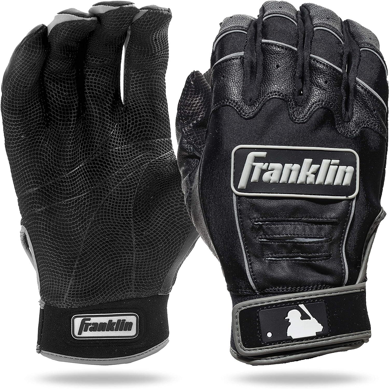 Franklin Sports MLB CFX Bro Batting Gloves, Black/Black (2015),