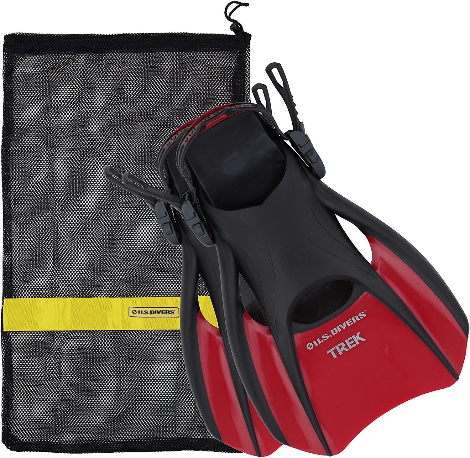 OFFicial US Divers Trek New Orleans Mall Travel Fin with Carrying Mesh Bag