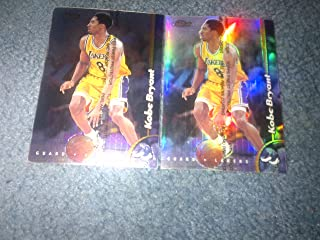 Lot of 2 Cards: 1998-1999 Kobe Bryant Topps Finest Jumbo Cards Refractor # 10! Los Angeles Lakers!