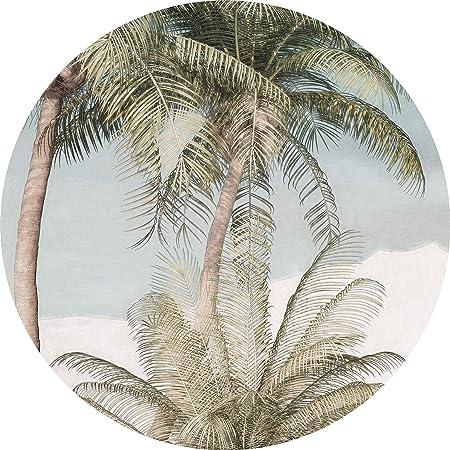 Designtapete Regenwald 1 St/ück ia Tapete Wandbild /Ø Durchmesser 125 cm Dschungel Komar DOT runde und selbstklebende Vlies Fototapete ian Spirit D1-055