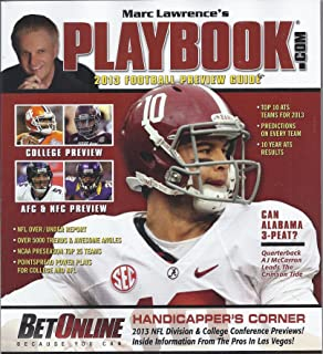 Marc Lawrence`s Playbook 2013 Football Preview Guide (Alabama,A.J.McCarron Cover)