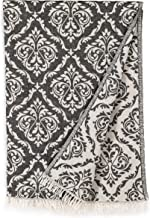 Linum Home Textiles Damask Delight Pestemal Beach Towel, Black