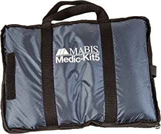 MABIS Medic-Kit5 EMT و کیت کمک های اولیه پیراپزشکی با 5 دکمه فشار خون نایلون کالیبره شده ، اندازه های شامل: بزرگسالان ، بزرگسالان ، کودک ، نوزاد و ران ، آبی ، آبی