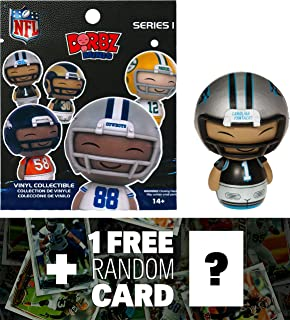 NFL Cam Newton - Panthers: Funko Mini Dorbz x Micro-Figure Wave #1 + 1 Free Official Trading Card Bundle (103213)