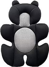 G Ganen Infant Baby Cozycushion Sleeping Cushion Head and Body Support Cushion Stroller and Seat Comfort Cushio (Black)