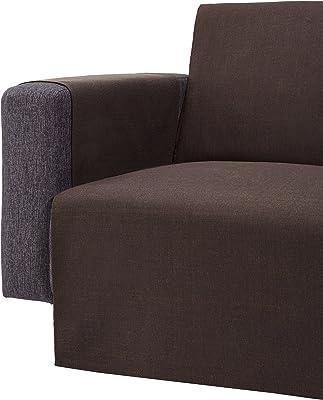 Zebra Textile 21467 sofaüberwürf berêt méridienne Gauche (Marron)