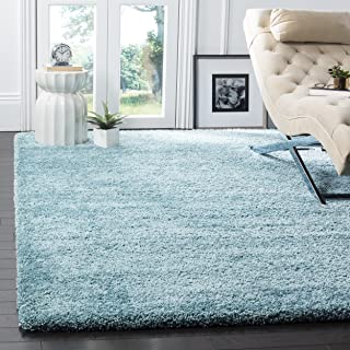 Safavieh Milan Shag Collection SG180-6060 Aqua Blue Area Rug (8' x 10')