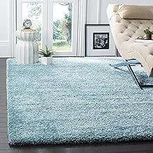 Safavieh Milan Shag Collection SG180-6060 Aqua Blue Area Rug (3' x 5')