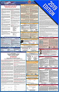 2019 Nevada Labor Law Poster – State, Federal, OSHA Compliant – Single Laminated Poster