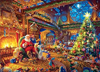 Ceaco Thomas Kinkade -Santa's Workshop Puzzle - 1000 Pieces