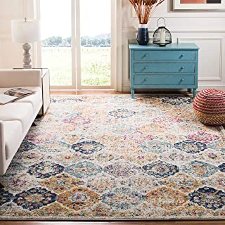 Safavieh Madison Collection MAD611B Bohemian Chic Vintage Distressed Area Rug, 4` x 6`, Cream/Multi