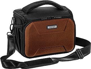 PEDEA DSLR Kameratasche 'Guard' Fototasche für Spiegelreflexkameras mit wasserdichtem Regenschutz, Tragegurt und Zubehörfächern, Gr. XL braun