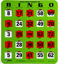 Regal Games Easy Read Green Bingo Heavy Duty 5 Ply Jumbo Shutter Slide Bingo Cards with Big Tabs