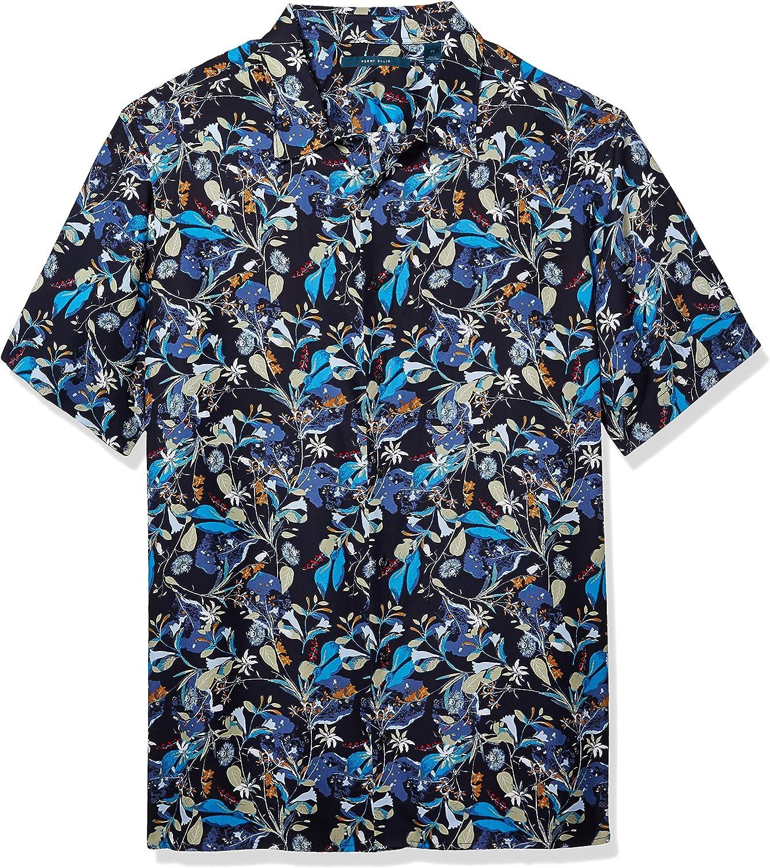 Perry Ellis Men's Big & Tall Large Floral Print Shirt