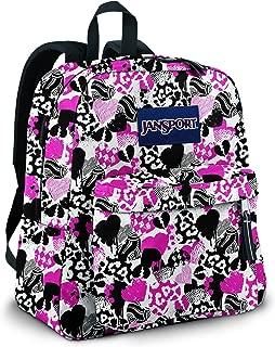 JanSport Spring Break Classics Series Daypack (Black/White Bleeding Heart)
