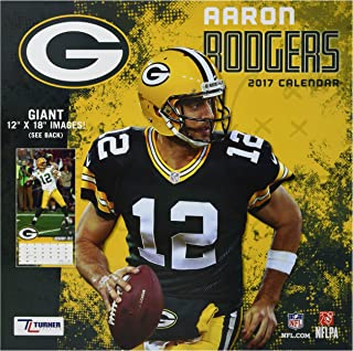 Turner Licensing Sport 2017 Green Bay Packers Aaron Rodger Player Wall Calendar, 12
