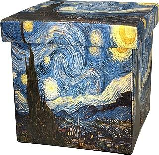 ORIENTAL Furniture Van Gogh Starry Night Storage Ottoman