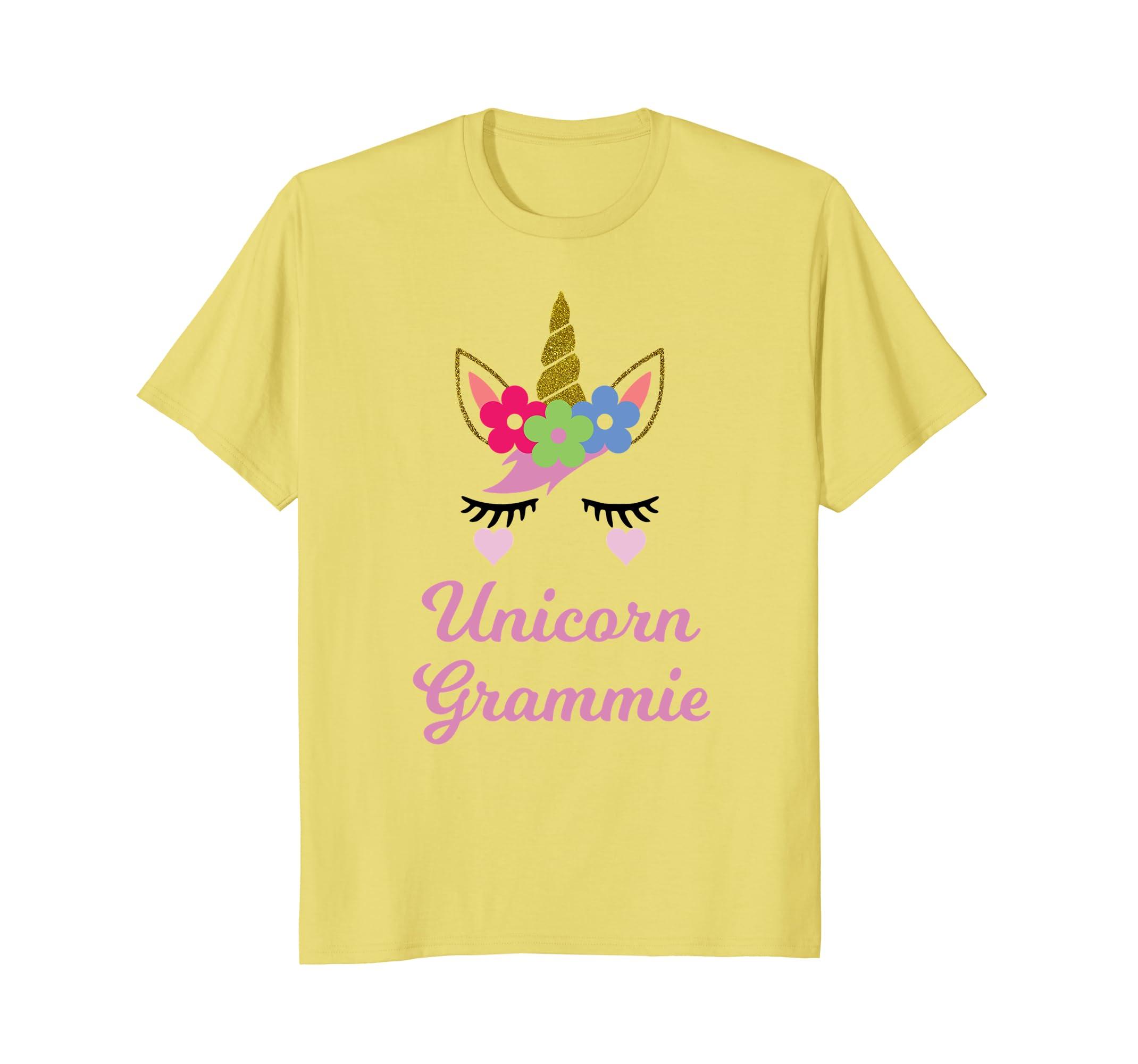 Unicorn Grammie T-Shirt, Unicorn Gift, Girl Birthday Party-Awarplus
