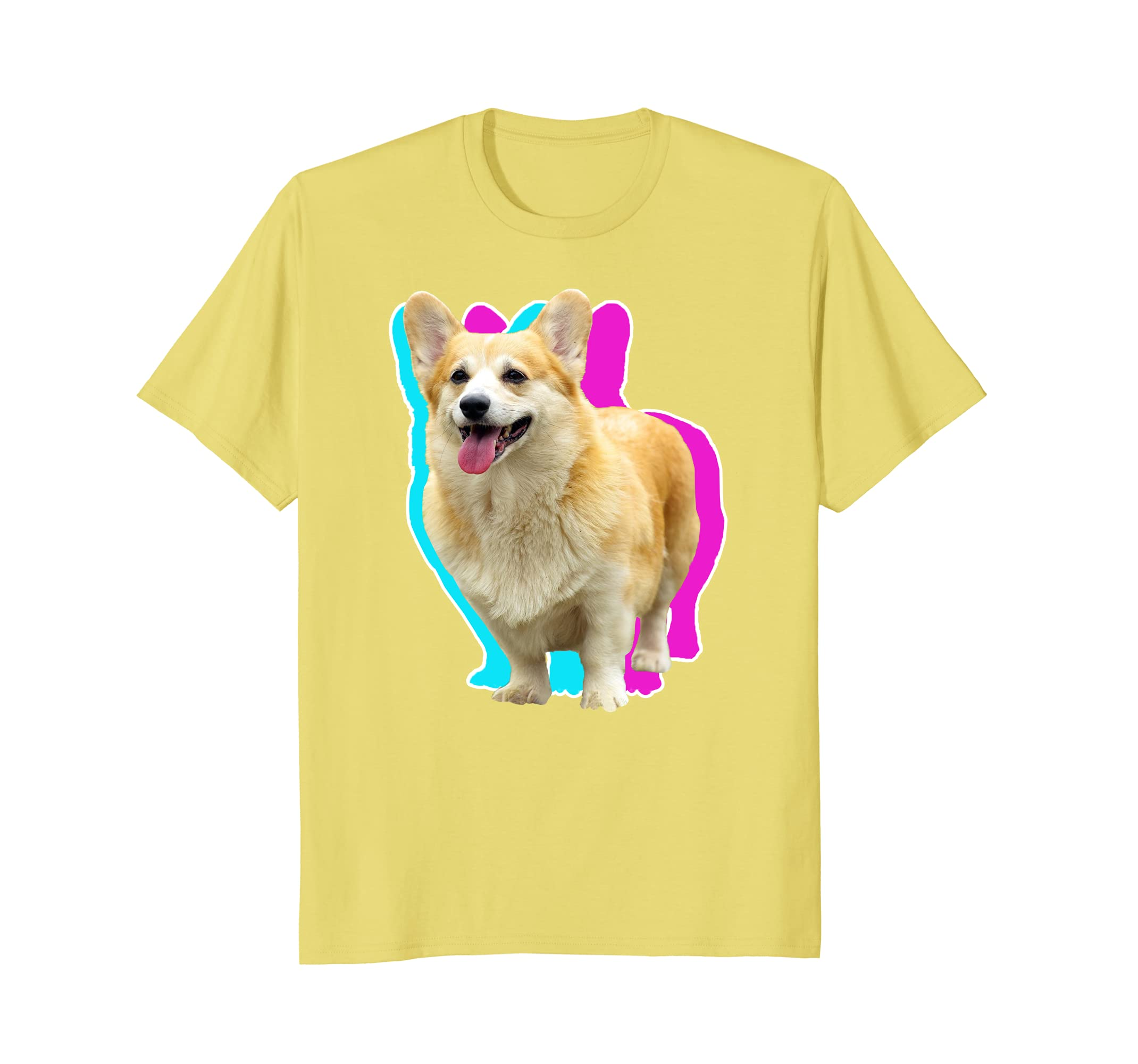 6e6e096208f9 3D Illusion Corgi T-shirt Double Vision Blue Pink-sdu - Shopdungnn