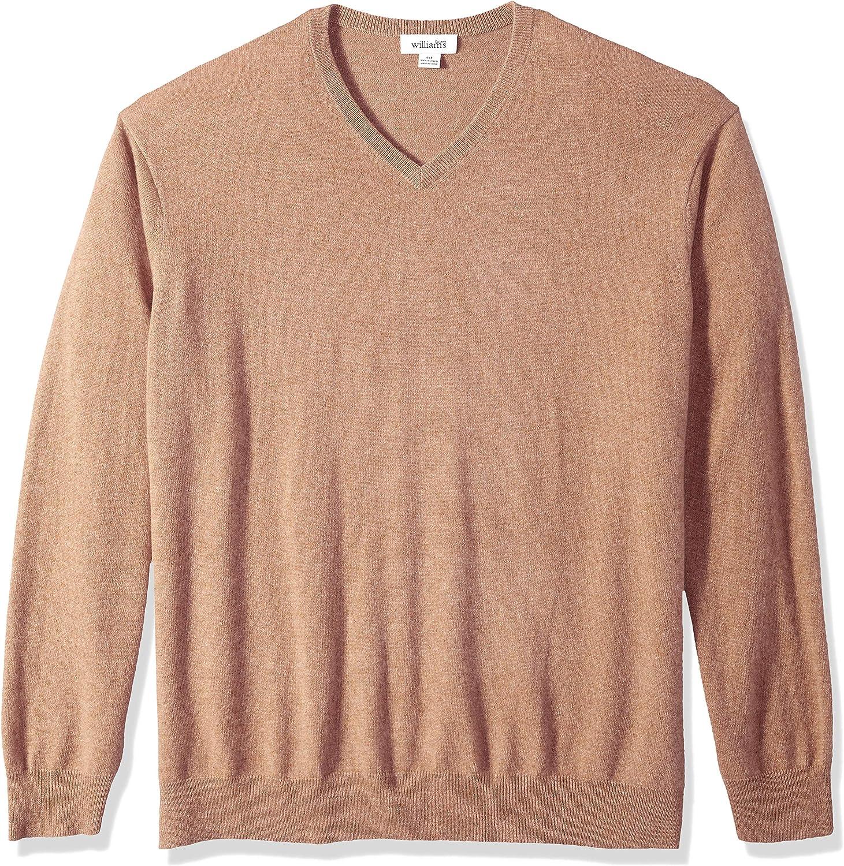Williams Cashmere Men's 100% Cashmere V Neck Pullover Sweater