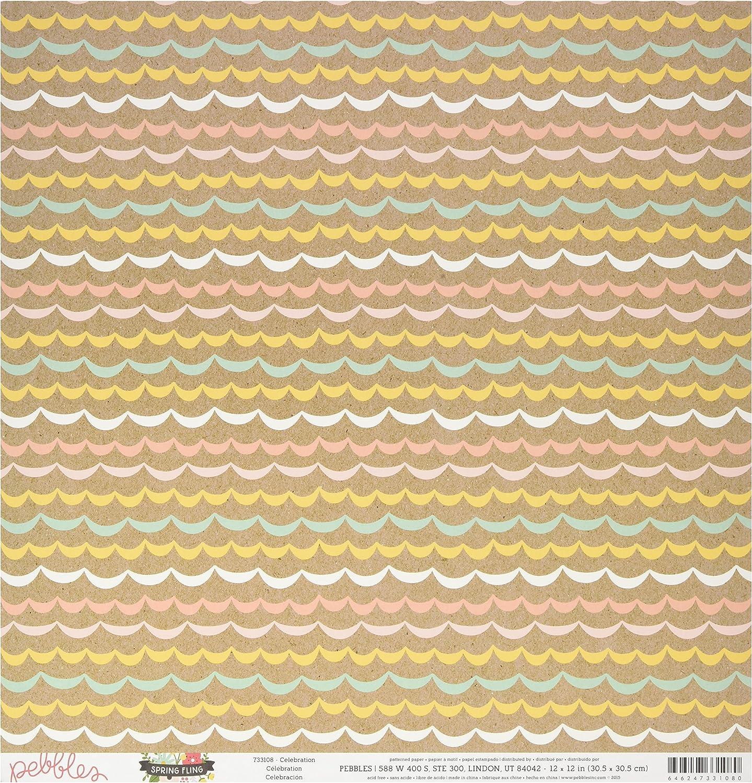 American Crafts Spring Fling doppelseitig Karton 12 Zoll x 12-inch-Celebration (25 Stück) B01BJGOLWQ   | Bunt,