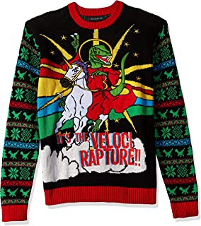 Men's Ugly Christmas Sweater Dinosaur