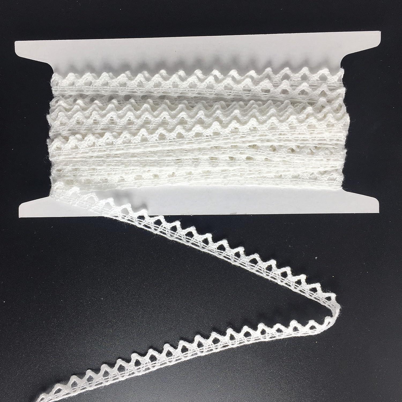ELLAMAMA Cotton Japan Maker New Lace Trim DIY Ribbon Edge Detroit Mall Zigzag Craft Delicate
