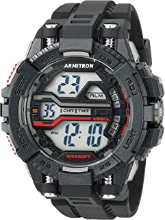 Armitron Sport Men's 40/8436BLK Digital Chronograph Black Resin Strap Watch