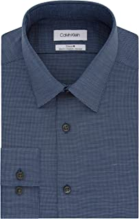 Men's Dress Shirt Slim Fit Non Iron Stretch Solid