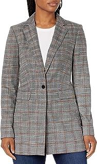 Calvin Klein Women's Plaid 1 Button Jacket