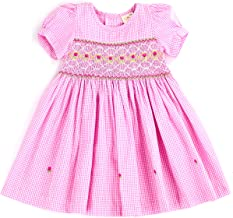 sissymini - Infant and Toddlers (9-12M - 4T) Hand Smocked Dress   Remy Redmond's Plaid