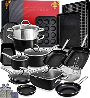 Kitchen Pots and Pans Set Nonstick Induction Cookware Sets -23pc Induction Pots and Pans for Cooking Kitchen Cookware Sets...