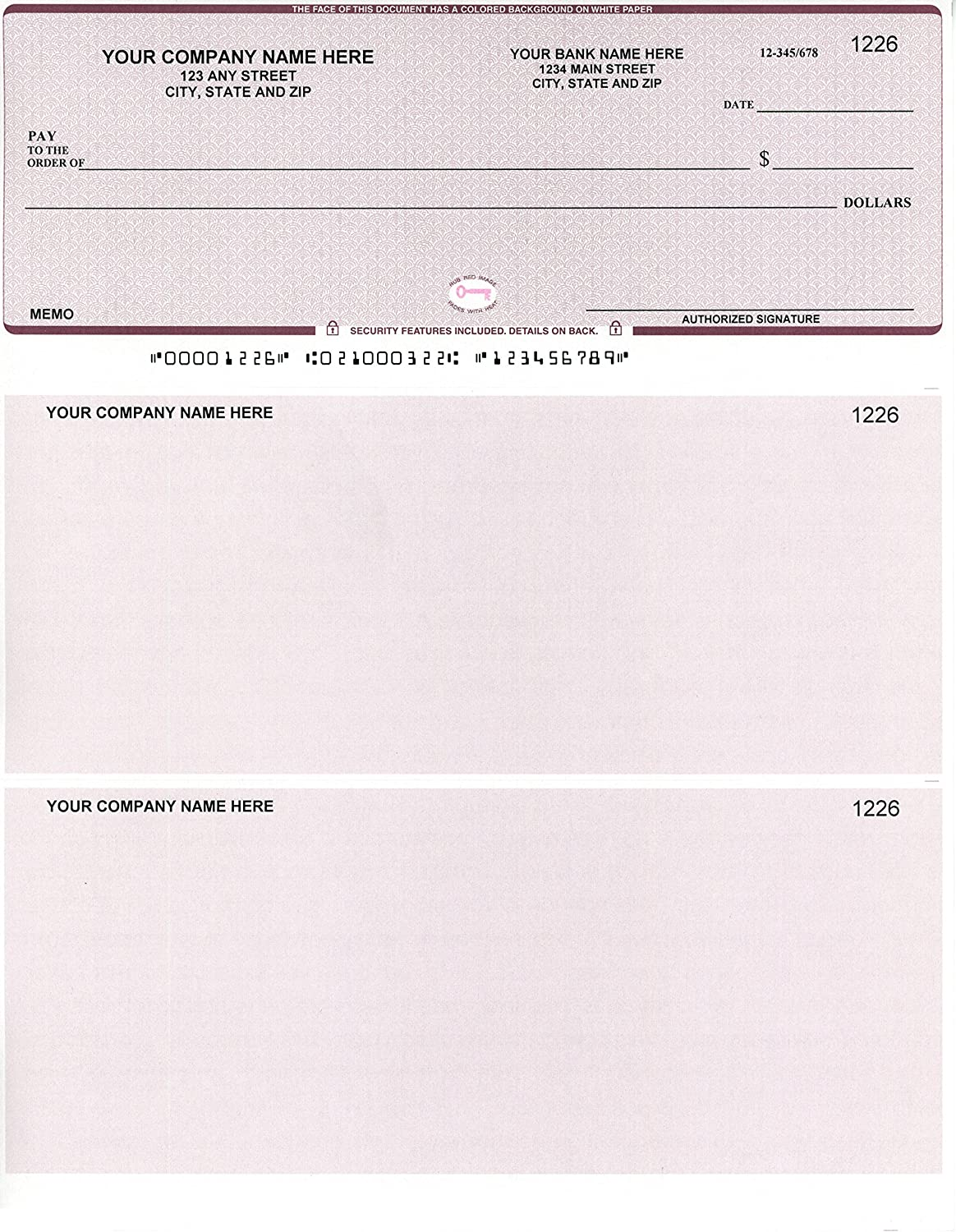 Mail order 250 National products Printed Computer Laser Checks - Compatible on Check Top fo