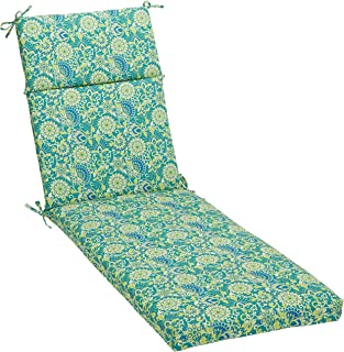 AmazonBasics Outdoor Lounger Patio Cushion - Blue Flower