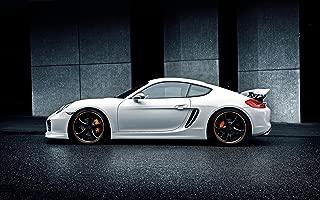 Techart Porsche Cayman 2014 3 24X36 Poster Banner Photo