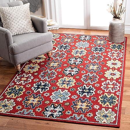 Safavieh Heritage Collection Hg746q Handmade Traditional Oriental Premium Wool Area Rug 8 X 10 Red Blue Furniture Decor