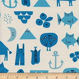 Cotton + Steel Natural Christian Robinson Spectacle Adventure Fabric by The Yard
