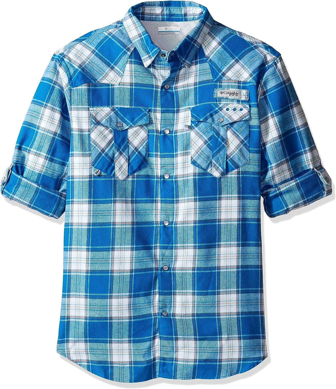 Columbia Sportswear Men's Beadhead Flannel Long Sleeve Shirt, Windswept Plaid, Small
