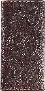 Womens Ladies Genuine Leather Wallet Long Embossing Bifold Wallet Clutch Purse