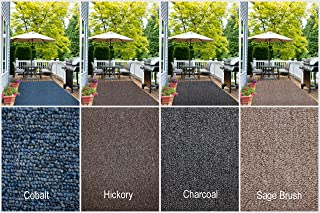Indoor - Outdoor Area Rug Runners. Great Solution for Covering Decks, Balconies, Patios, etc. Multiple Colors (5' x 10', Charcoal)
