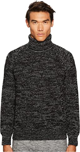 BELSTAFF - Barnsted Wool Mouline Funnel Neck Sweater