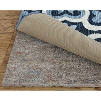 Mohawk Home Felt Rubber All Surface Non-Slip Rug Pad, 8' x 10', Brown