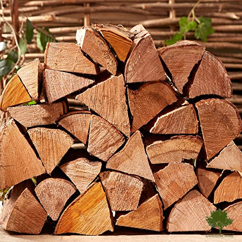 Hardwood Firewood Chunky Logs -Kiln Dried - Large Heavy 40 Litre, 25cm Long, Perfect for Open Fire Stoves, Log Burner, Fire Pits, Pizza Ovens Fast Delivery (1 X 15KG Net)